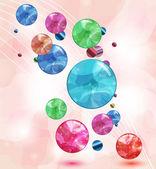 Abstracte achtergrond met glanzende zeepbellen — Stockvector