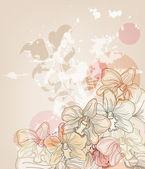 芸術的な蘭のはがき — ストックベクタ