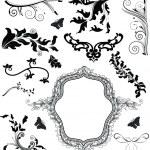 Precious set of decorative elements — Stock Vector