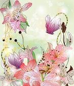 Fairy tale garden — Stock Vector