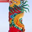 Dragon statue against blue sky in chinese temple — Stock Photo #8024420