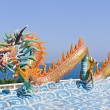 Dragon statue against blue sky in chinese temple — Stock Photo #8024586
