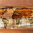 World map in the wood texture — Stock Photo