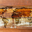 World map in the wood texture — Stock Photo #8025276