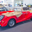Vintage car Morgan Plus 4 display at Thailand International moto — Stock Photo