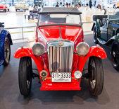 Vintage bil mg tb display på thailand internationella motor expo 2 — Stockfoto