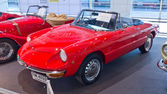 Classic car ALfa Romeo Spider Junior display at Thailand Interna — Stock Photo