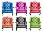 Collection of luxury armchair isolated with clipping path — Foto Stock