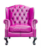Purple luxury armchair isolated with clipping path — Stock Photo