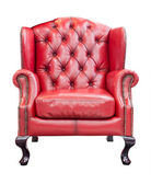 Red luxury armchair isolated with clipping path — Stock Photo