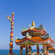 Dragon pavilion against blue sky in chinese temple — Stock Photo #9256758
