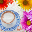 Hot chocolate and flower - 