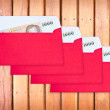 Red envelope for chinese newyear — Stock Photo