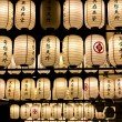 Japanese style lanterns — Stock Photo