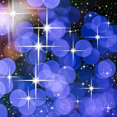 Bright star and blue round light for web background — Foto Stock