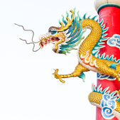 Dragon statue in chinese temple — Stock Photo