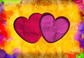 Grunge love heart paper — Stock Photo
