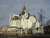 Russia, Moscow. Church of the Resurrection in Sokolniki — Stock Photo