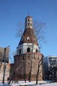 Russia, Moscow. Tower Patriarchal monastery in New Simonov. — Stockfoto