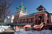 Moscow. Highly Petrovsky Monastery. Temple of Saint Sergius — Stock Photo