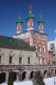 Moscow. Highly Petrovsky Monastery. Temple of Saint Sergius — Stock Photo