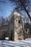 "Moscow. Museum ""Tsaritsyno"". Tower ruin. — Stock Photo"
