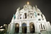 Basilica Sacre Coeur at night — Stock Photo