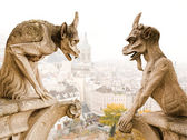 Paris Notre Dame cathedra demons — Stock Photo