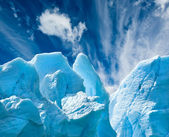 Perito Moreno glacier, patagonia, Argentina. Copy space. — Stock Photo
