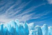 Perito moreno gletscher, patagonien, argentinien. textfreiraum. — Stockfoto