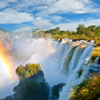 Iguazu falls, one of the new seven wonders of nature. Argentina. — Stock Photo