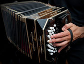 Playing traditional bandoneon. — Stock Photo