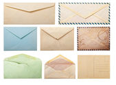 Old envelopes and postcard. — Stock Photo