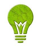 Lampadina ecologia luce isolato. — Foto Stock