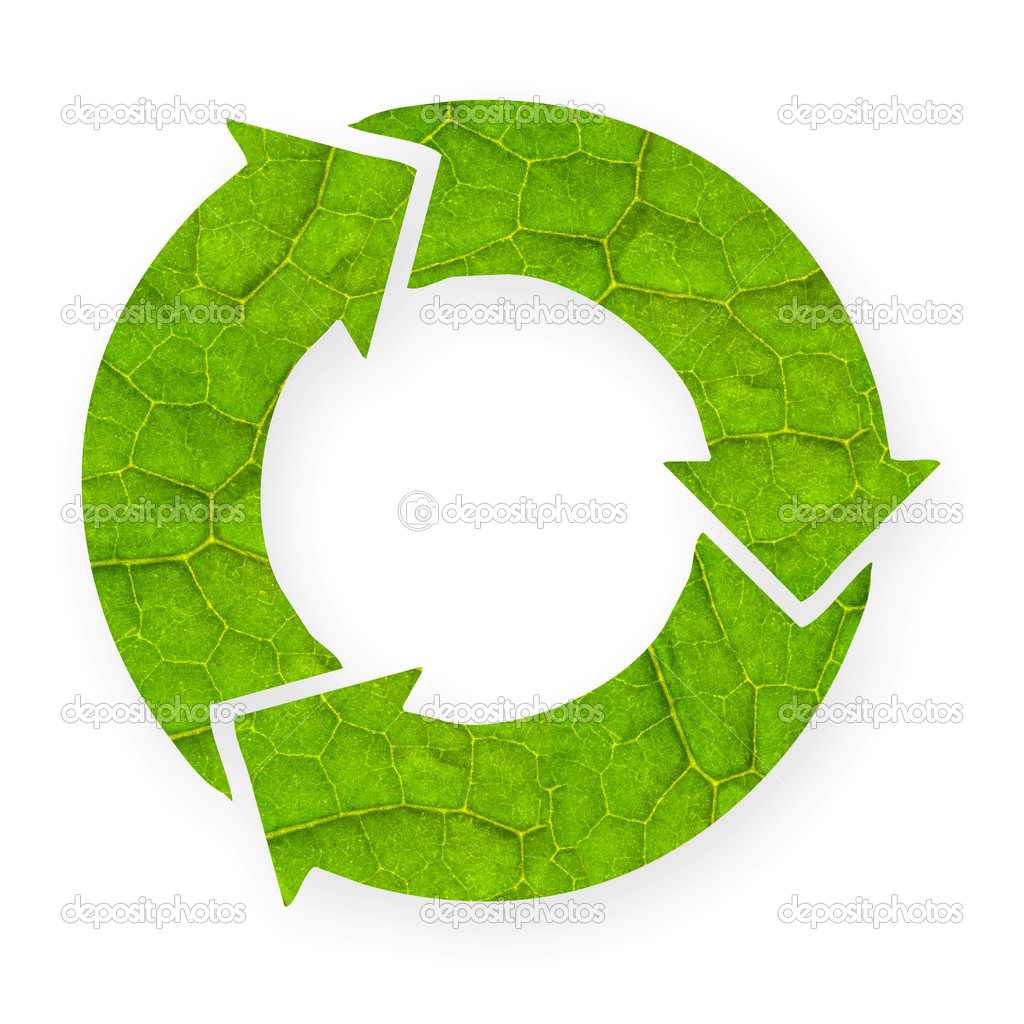 Cool Recycle Symbol Recycle symbol with leaf
