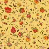 Vector retro floral seamless pattern — Stock Vector