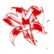 Vector de stock : Red lilly