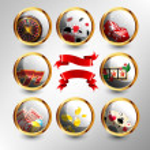 Set of casino`s icons — Stock Vector #9409635