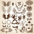 Heraldic elements - Vettoriali Stock