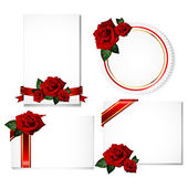 Greeting cards with rose — Stock Vector