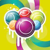 Bingo or lottery balls — Stock Vector