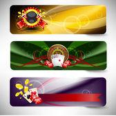 Sada vektorové kasino bannerů — Stock vektor