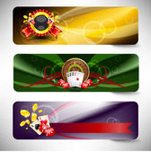 Set of vector casino banners — Stok Vektör