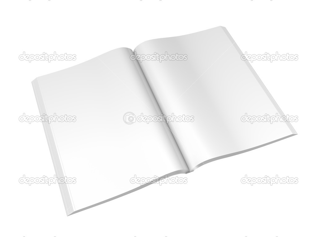 Blank magazine isolated on white with clipping paths — Stock Photo #9884153