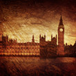 Gloomy textured image of Houses of Parliament in London — Stok fotoğraf