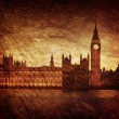 Gloomy textured image of Houses of Parliament in London — Stockfoto