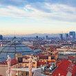 "Milan skyline from ""Duomo di Milano"". Italy. - Stock Photo"
