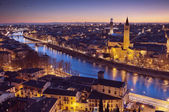 Verona at night - Italy — Stock Photo