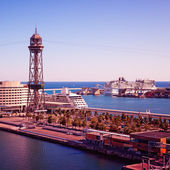 Luxury Cruise Ships in Barcelona - Spain — Stock Photo