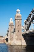 De grote peter brug. bolsheokhtinsky brug. Sint-petersburg. Rusland — Stockfoto